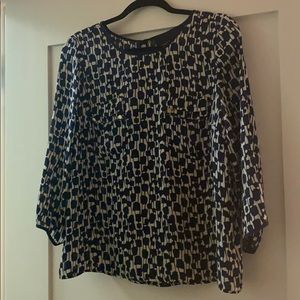 Cynthia Rowley Navy Blouse Like New